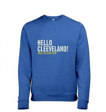 Hello Cleveland heather sweatshirt