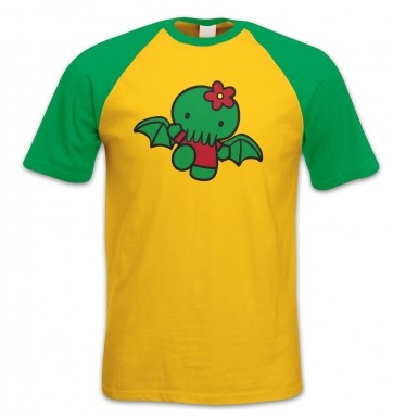 Hello Cthulhu short-sleeved baseball t-shirt