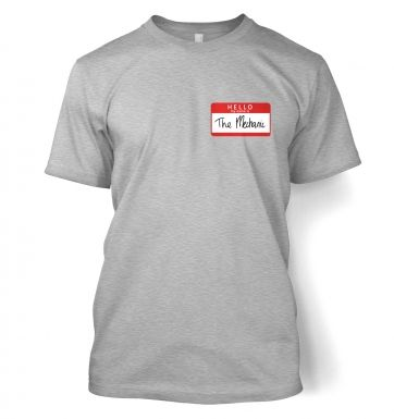 Hello My Name Is The Mechanic men's t-shirt