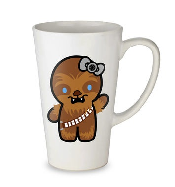 Hello Wookiee tall latte mug