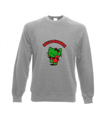 Hello Zombie Adult Crewneck Sweatshirt