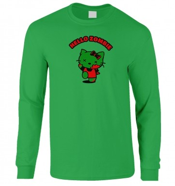 Hello Zombie long-sleeved t-shirt