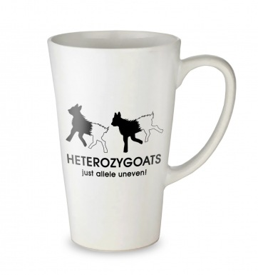 Heterozygoats Just Allele Uneven tall latte mug