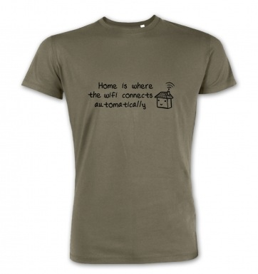 Home Is Where The Wifi Connects premium t-shirt