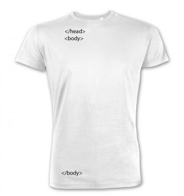 HTML Head and Body Tags premium t-shirt