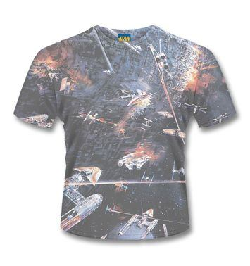 Huge Space Battle SubDye Star Wars t-shirt