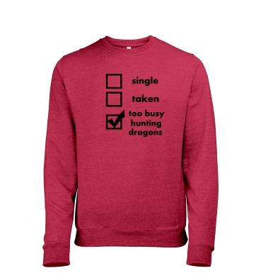 Hunting Dragons: Relationship Status men's heather sweatshirt