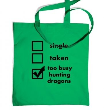 Hunting Dragons: Relationship Status tote bag