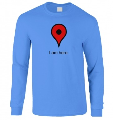 I Am Here long-sleeved t-shirt
