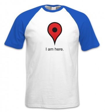 I Am Here short-sleeved baseball t-shirt
