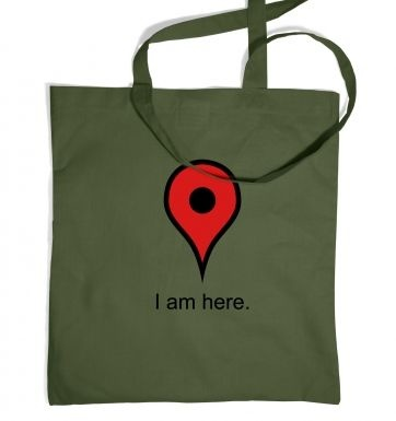 I Am Here tote bag