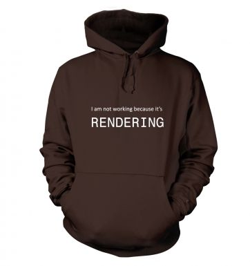 I am not working because it's rendering hoodie