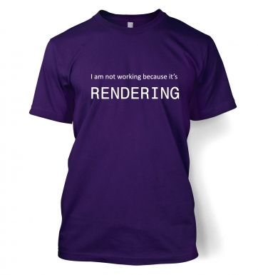 I am not working because it's rendering t-shirt