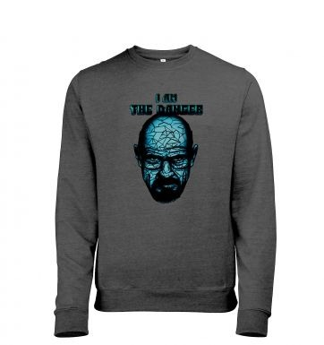 I am the danger mens heather sweatshirt