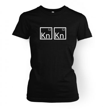 I Am The One Who Knocks Elements women's t-shirt
