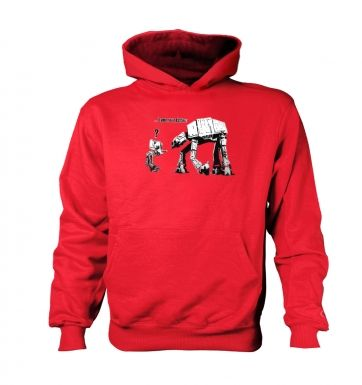 I Am Your Father kids' hoodie (contrast)