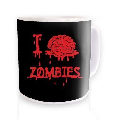 I brain zombies black mug