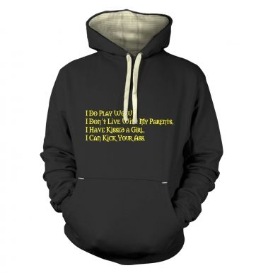 I Do Play WoW adults' premium hoodie