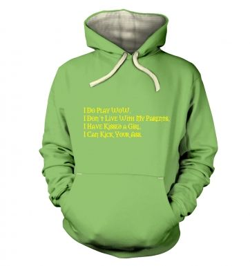 I Do Play WoW hoodie (premium)