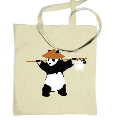 If Banksy Played WoW, He'd Be Pandaren tote bag