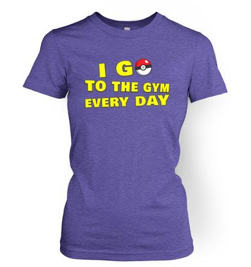 I Go To The Gym womens t-shirt