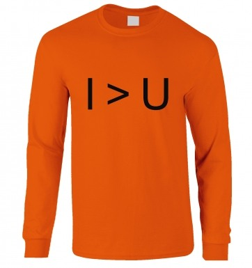 I > U  long-sleeved t-shirt