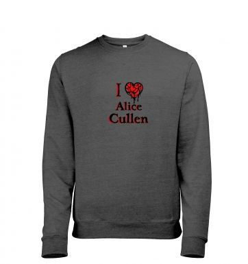 I heart Alice Cullen heather sweatshirt