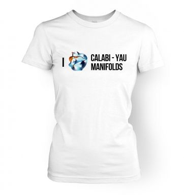 I (Heart) Calabi-Yau Manifolds womens t-shirt