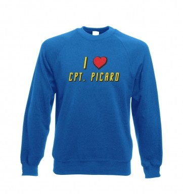 I heart Captain Picard sweatshirt