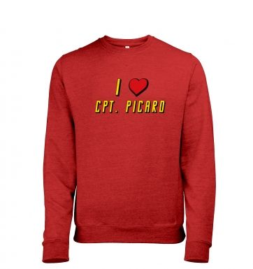 I heart Captain Picard heather sweatshirt