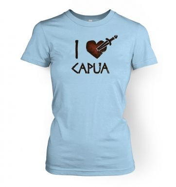 i heart capua  womens t-shirt
