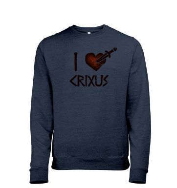 I heart Crixus men's heather sweatshirt