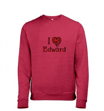 I heart Edward heather sweatshirt