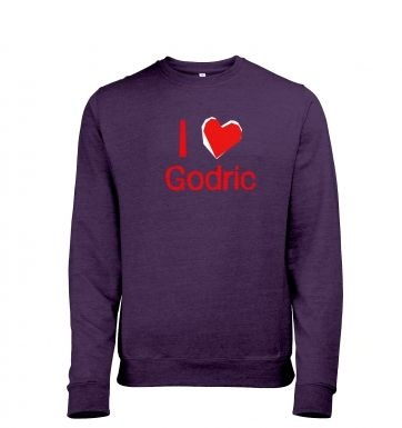 I Heart Godric heather sweatshirt