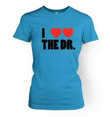 I Heart Heart The Dr - Dr Who - Women's T-Shirt