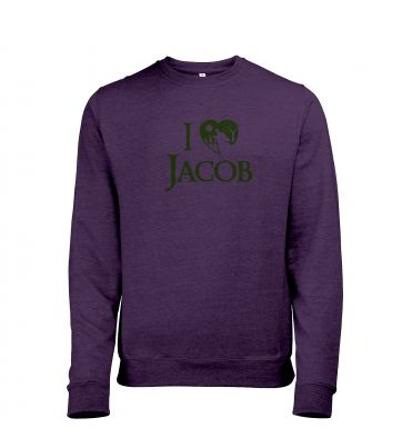 I heart Jacob heather sweatshirt