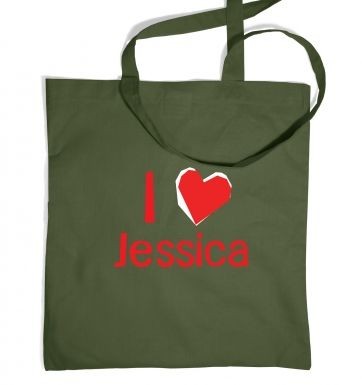 I Heart Jessica tote bag