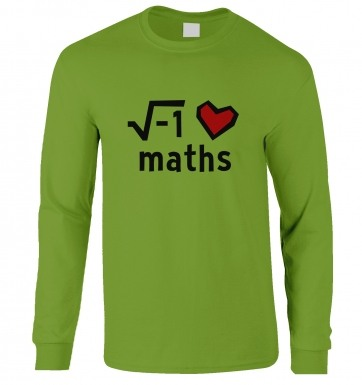 i Heart Maths long-sleeved tshirt