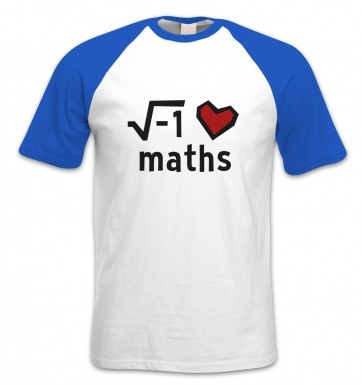 i Heart Maths short-sleeved baseball t-shirt