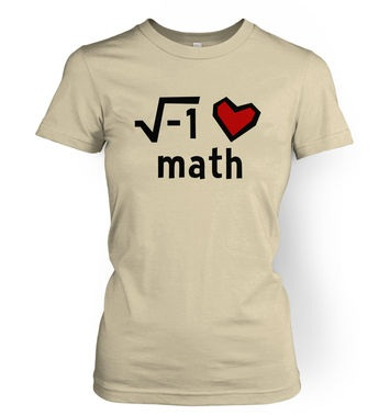 I Heart Math women's t-shirt