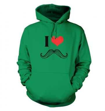 I heart moustache hoodie 