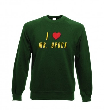 I Heart Mr Spock sweatshirt