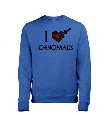 I heart Oenomaus men's heather sweatshirt 