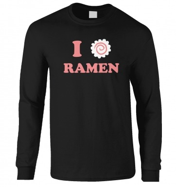I Heart Ramen long-sleeved t-shirt