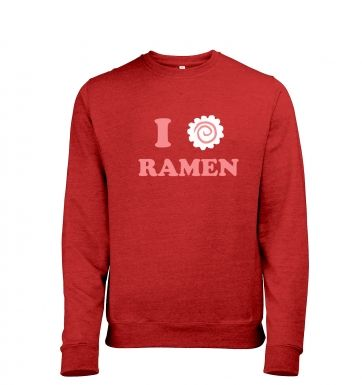 I Heart Ramen heather sweatshirt