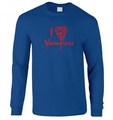 I Heart Vampires long-sleeved t-shirt