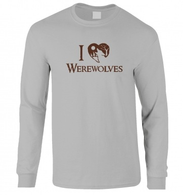 I Heart Werewolves long-sleeved t-shirt