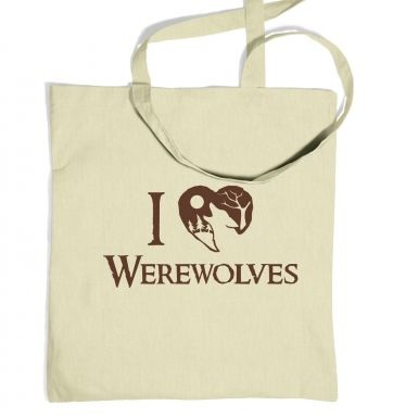 I Heart Werewolves tote bag