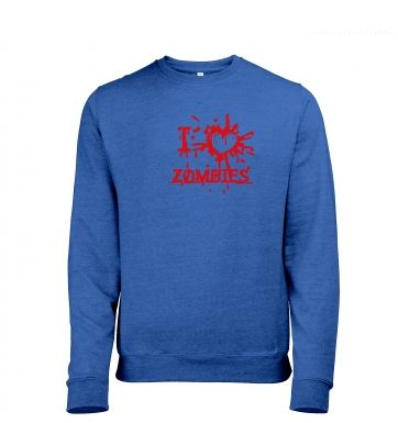 I Heart Zombies heather sweatshirt
