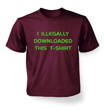 I Illegally Downloaded This T-shirt kids t-shirt